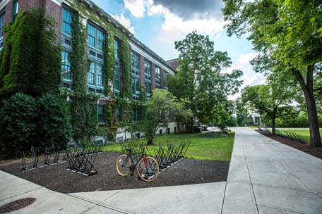 bicycle-parked-outside-university-campus-dormitory